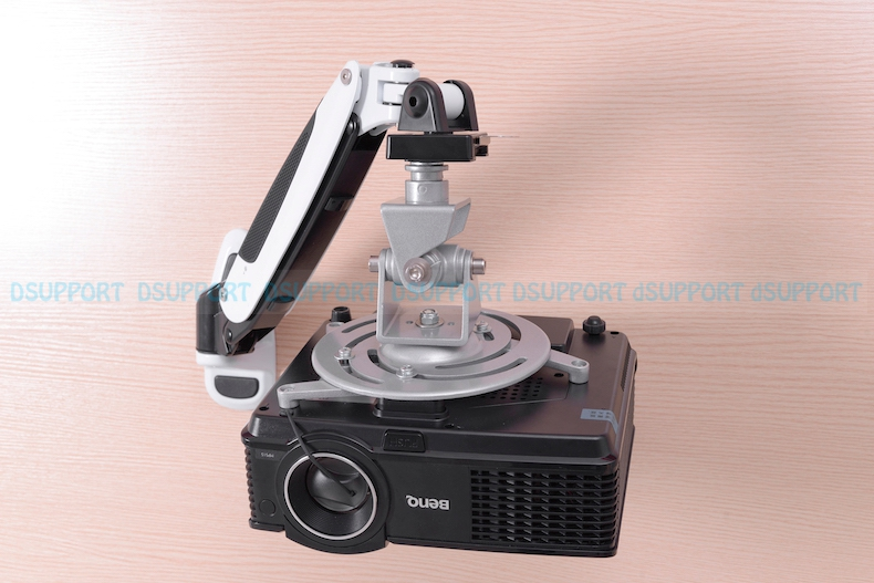 PR03A Aluminum Alloy 360 Degree Projector Wall Mount Full Motion Retractable Universal Projector Hanger Bracket in Projector Brackets from Consumer Electronics