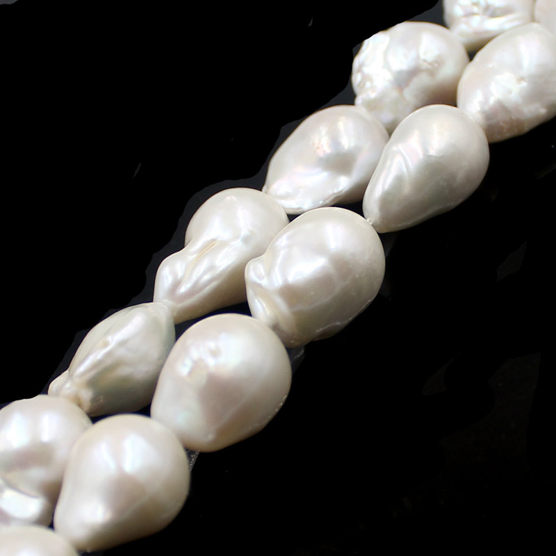 Free Shipping 12 18mm High Grade Baroque Reborn White Pearls Jewelry DIY Natural Freshwater White Pearl