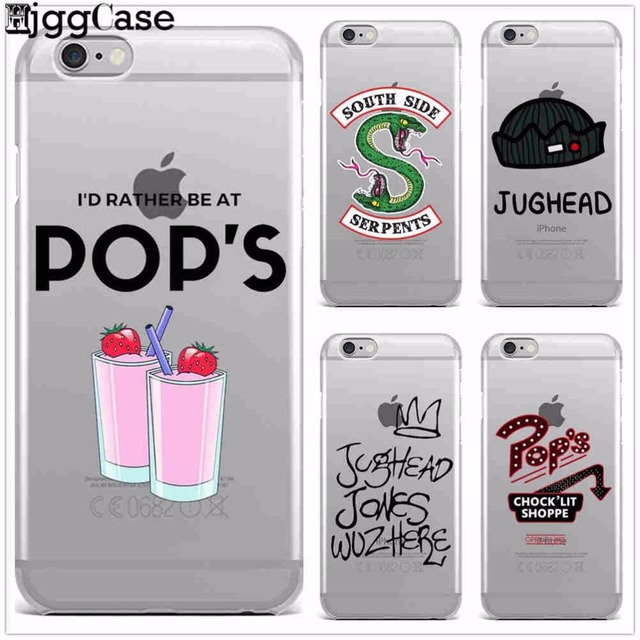 cheap for discount ace69 4d60f US $0.96 34% OFF|American TV Riverdale Painted Phone Case For iphone X 8 7  6 6S Plus 5 5S SE Case TPU Soft Silicone Transparent Cover Cases Capa-in ...