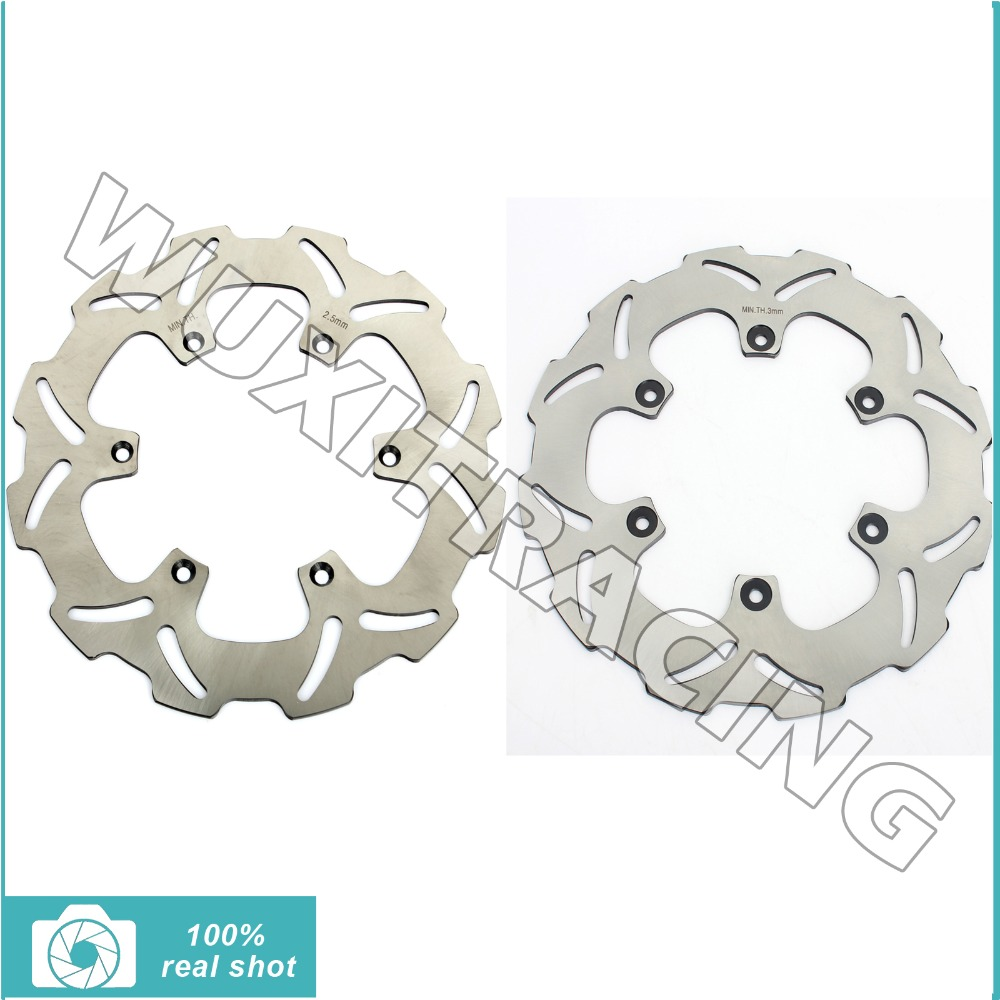 Front Rear Brake Disc Rotors For YAMAHA WR YZ 125 250 WRF YZF WR-F YZ-F 250 426 450 02 03 04 05 06 07 08 09 10 11 12 13 14 15