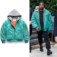 2017 NEW TOP hiphop Fashion oversized MA 1 Men jacket zipper jackets coat blue S XXL