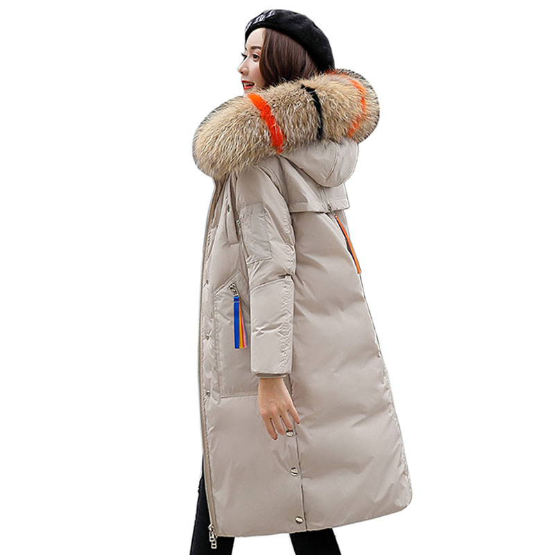 2018 new Winter Jacket Women's Long Cotton-Padded Hooded Jackets   Parkas   Ladies Plus Size Winter Women Down   Parka   Coats Clothing