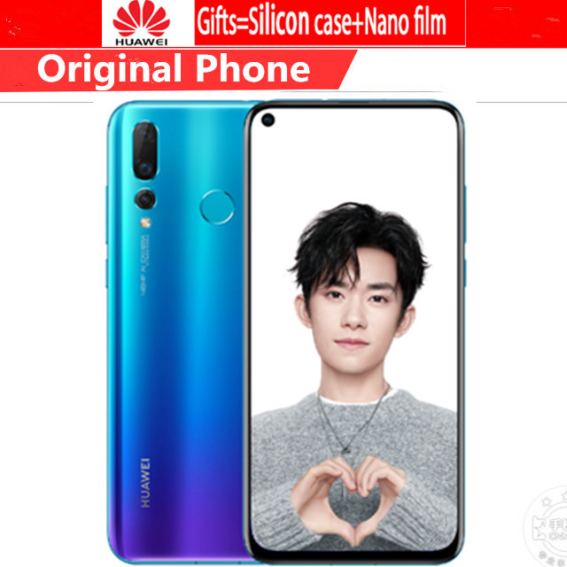 DHL Fast Delivery HuaWei Nova 4 4G LTE Cell Phone Kirin 970 Android 9.0 6.4″ IPS 2310X1080 8GB RAM 128GB ROM 48.0MP Fingerprint