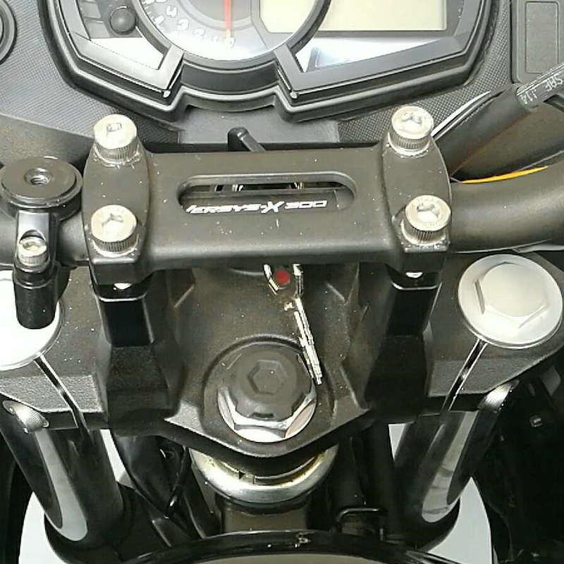 Modified for Kawasaki Versys 300 X 300 2017 handlebar risers Height up Adapters