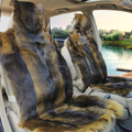 2014 Real 100% Pure Natural Wolf Skin Seat Cover Cushion 8 Colors 5 Seats/set Car Styling Winter Warmer Pad Covers Wholesale