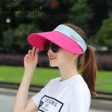 3b33774bc06 2018 new Brands Sunscreen Baseball Hats For Men Women Empty Top Visor  Sports Cap Fitted Summer