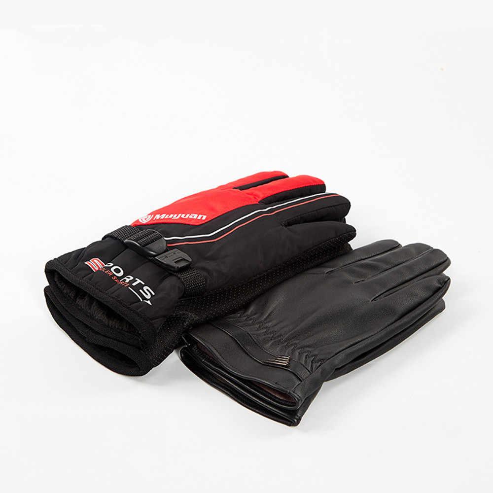 Женские мужские лыжные перчатки для сноуборда зимние Мотоциклетные Перчатки Водонепроницаемые зимние ветрозащитный для кемпинга варежки для отдыха Новинка #25