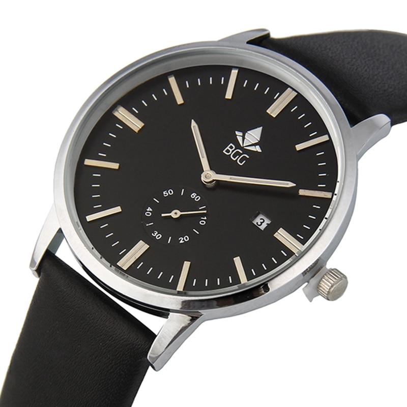 Top Brand Luxury Mens Fashion sports Watch Ultra Slim Men Calendar Quartz wristwatch Genuine Leather Male Business Clock hours