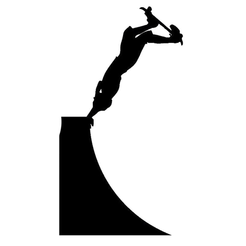 Интересные силуэты скейтборда 8,8 см * 16,4 см, виниловые автомобильные наклейки для экстремальных видов спорта, черные/Серебристые Фотообои