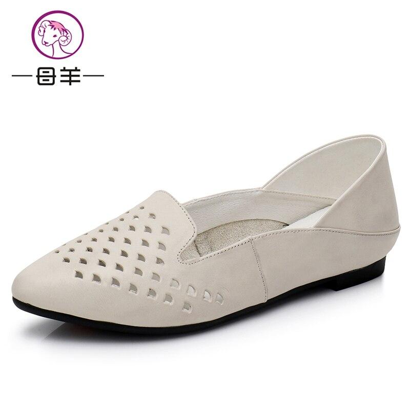 Dames sandalen schoen Dames Lederen Platte schoenen Mode