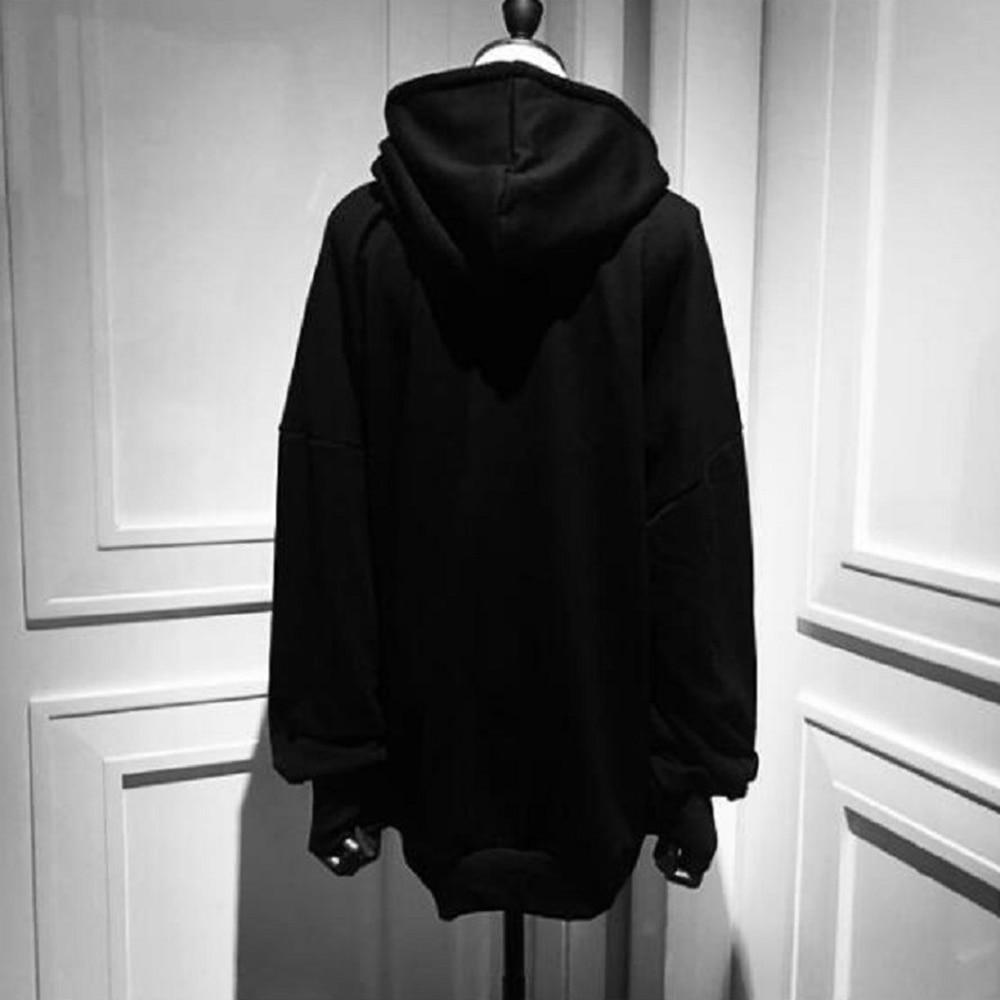 Black Hoodies Punk Sweatshirt Long Sleeve Hoodie Women Moon Print Gothic Clothes Harajuku BF Style Streetwear Goth Autumn Top 1