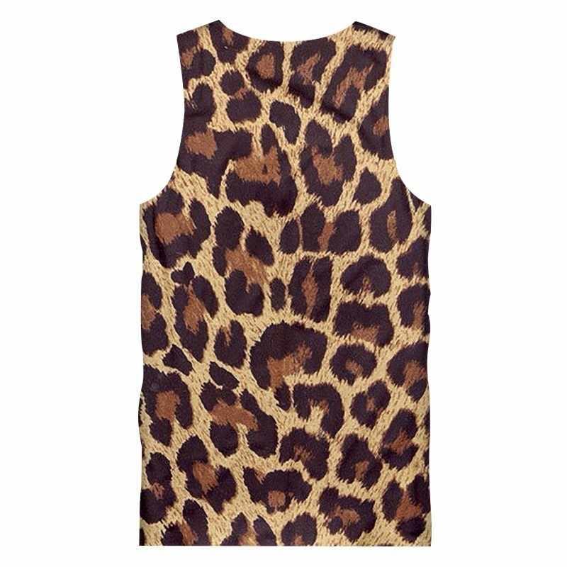 OGKB 2018 homme léopard sans manches impression 3D noir Spot tenue décontracté gilet