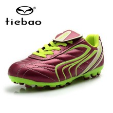 TIEBAO Professional Kids Football Shoes Outdoor Sports National Flag Soccer Boots Children Training Shoes Sneakers EU Size 30-38
