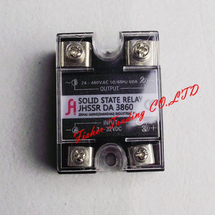 5pcslot 60A solid state relayinput 3 32VDC output 24 480VAC