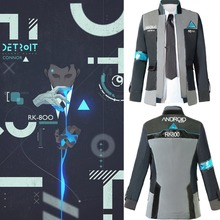 Detroit: Become Human Connor RK800 Cosplay Costume Suit Outfit Mens Coat Jacket