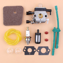 Carburetor Air Filter Fuel Hose Check Valve Kit Fit STIHL FS45 FS46 FS55 FS55R FC55 FS38 FS55RC KM55 HL45 KM55R SP85 Zama Carb