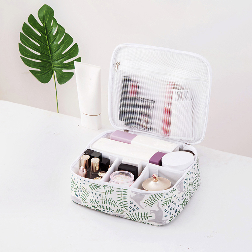 Cosmetic Bag Polyester Travel Organizer Zip Lock Makeup Storage Bags Portable Trumpet Mini Shampoo Mini Lugage Box Case  J10