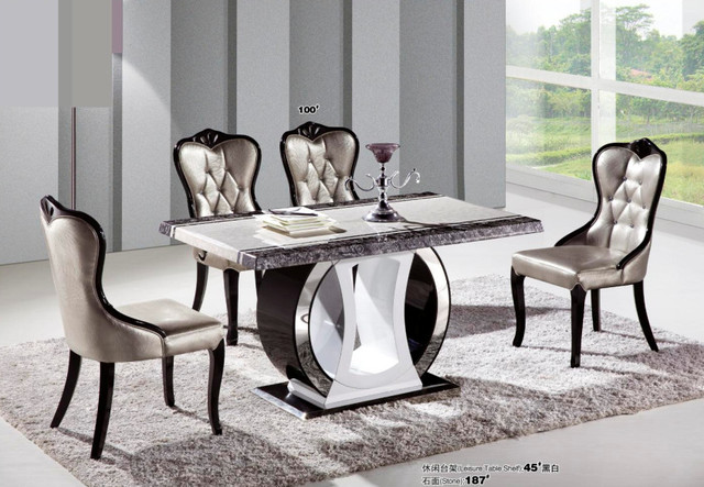 Fashion modern dining room table marble top dining tables-in Dining ...