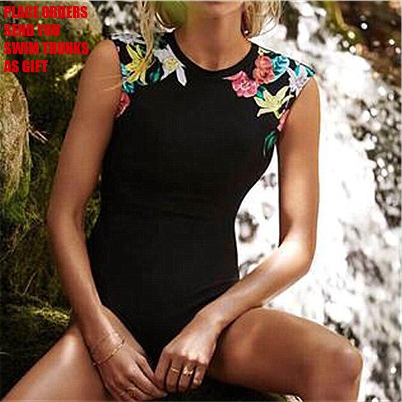 Classic Black Swimwear One Piece Swimsuit Women High Neck Bathing Suit Backless Beach Wear Bodysuit S