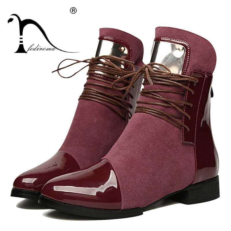 35 43 buty damskie oryginalne skórzane płaskie trzewiki