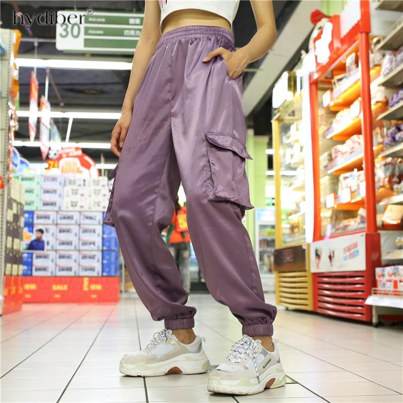 High waist   pants   loose joggers women harem camo   pants   streetwear punk black cargo   pants   women   capris   trousers 2018