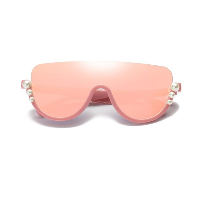 9256d2c1fe3f Luxury Brand Design Diamond Sunglasses 2018 Pearl Women Rimless Oversized  Eyewear Shades Clear Lens Sun Glasses Vintage Summer