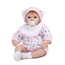 17Inch New Born Baby Dolls Bebes Reborn Meninas Children Best Gift Silicone Reborn Baby Dolls for Kids Handmade Princess Bonecas