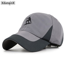 XdanqinX Adjustable Size Womens Ponytail Baseball Caps Snapback Cap Anti-UV Breathable Tongue Adult Mens Sports Hats