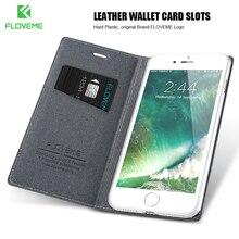Floveme I7 I6 плюс Роскошный оригинальный бренд Флип кожаный чехол для iPhone 6 6 S 7 4.7 для iPhone6 плюс 6 s 7 Plus Стенд Бумажник Обложка