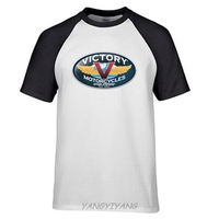 New Popular VICTORY MOTORCYCLES Classic Men S Black T Shirt Size S 2XL Custom Made Good