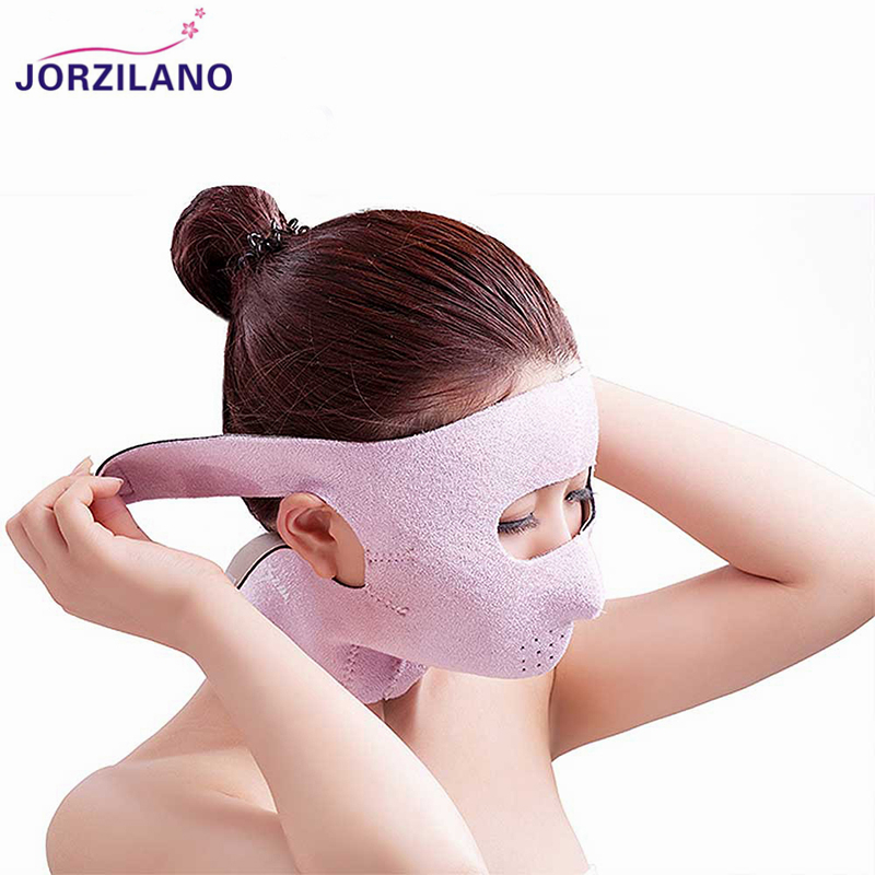 JORZILANO Anti Wrinkle Fully Face Belt Strap Eye Bag Pouch Removal Slimming Lifting Bandages Face Slimmer Bandage Wrap Mask Belt green 50mm width 2m 2t flat eye to eye web lifting strap tow strap