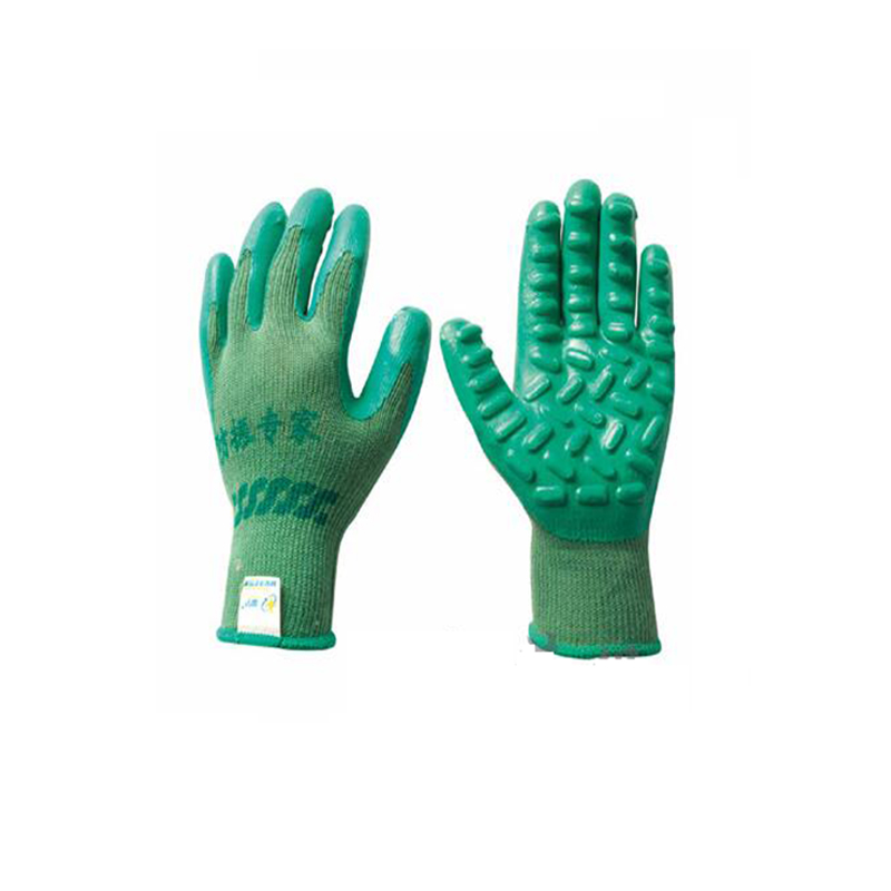 1 Pair Anti Vibration Gloves Garden Gloves Rubber Green Mechanics Work Shock-proof Gloves Size L for Power Tools insulated gloves electric gloves 5kv anti live live work high pressure live work labor protection protective rubber gloves