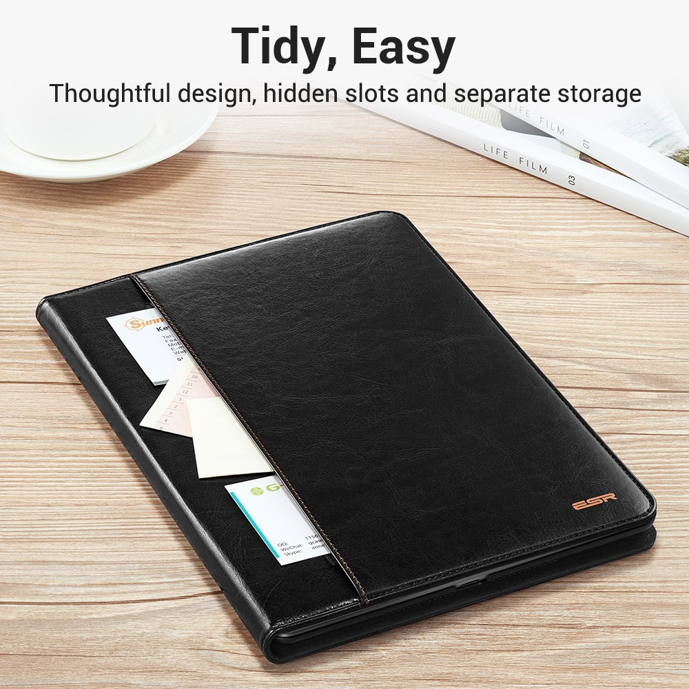 Case For Ipad 9.7 NEW Model Premium PU Leather Business Folio Stand Pocket Auto Wake Smart Cover For Ipad 2017 9.7 New