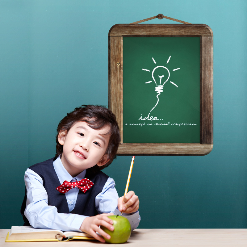[Fundecor] Removable Green board wall stickers for kids rooms nursery office Vinyl decal children murals chalk 3d art home decor