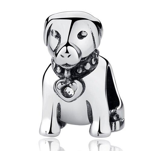 Аутентичные бусины из стерлингового серебра 925 милые отпечатки собачьих лап кошка сова животное Шарм подходят оригинальные Пандора браслеты амулеты «сделай сам» ювелирные изделия - Цвет: 2