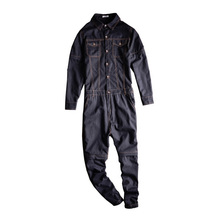Brand 2017 New Men s casual full sleeve detachable denim overalls Pockets cargo long jeans Black