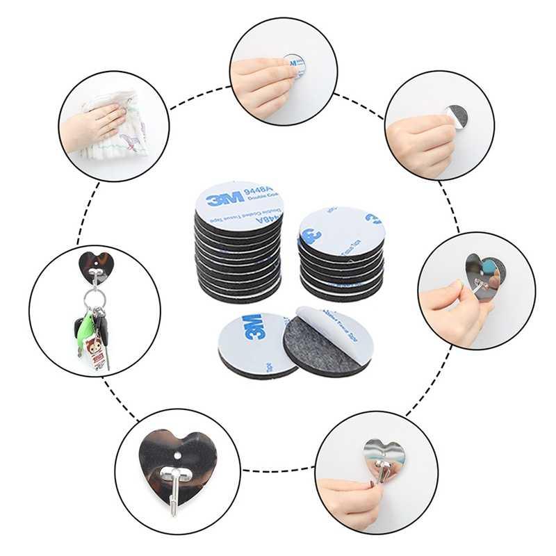 50 piezas de doble cara de espuma cinta fuerte Pad de rectángulo adhesivo de alta resistencia a la temperatura, coche cuadrado y uso en el hogar