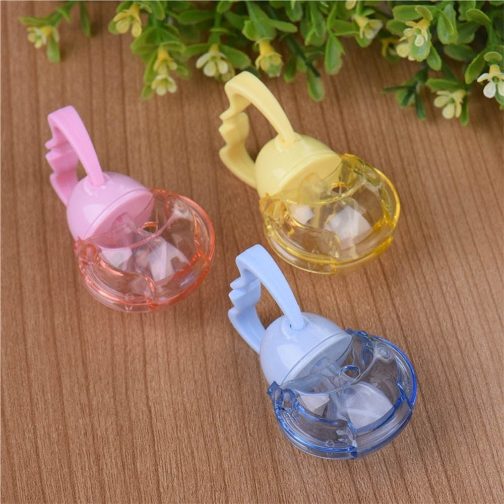 1Pcs Food-grade Security For Newborn Cute Baby Pacifier Automatic Closing Soother Nipple With Covers For Baby Kids Protecting