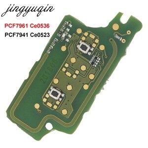 Image 1 - Jingyuqin לשאול 2B מרחוק Flip רכב מפתח אלקטרוני לוח עבור פיג ו 307 308 408 407 207 סיטרואן C2 C3 C4 פיקאסו ID46 CE0536/523