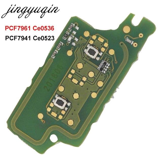 Jingyuqin לשאול 2B מרחוק Flip רכב מפתח אלקטרוני לוח עבור פיג ו 307 308 408 407 207 סיטרואן C2 C3 C4 פיקאסו ID46 CE0536/523