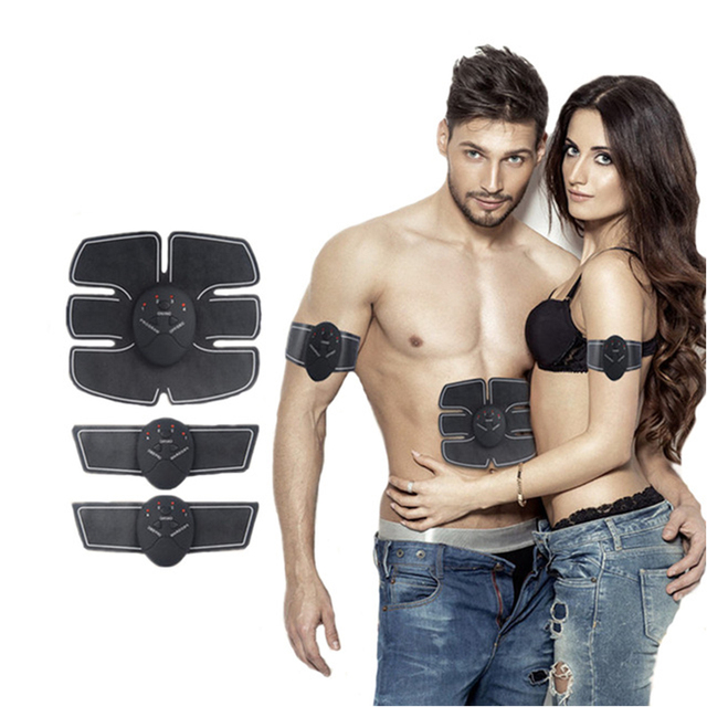 Body Slimming Belt EMS Wireless Muscle Smart Fitness Abdominal Training Device Electric Weight Loss Stickers Warm Paste Pads