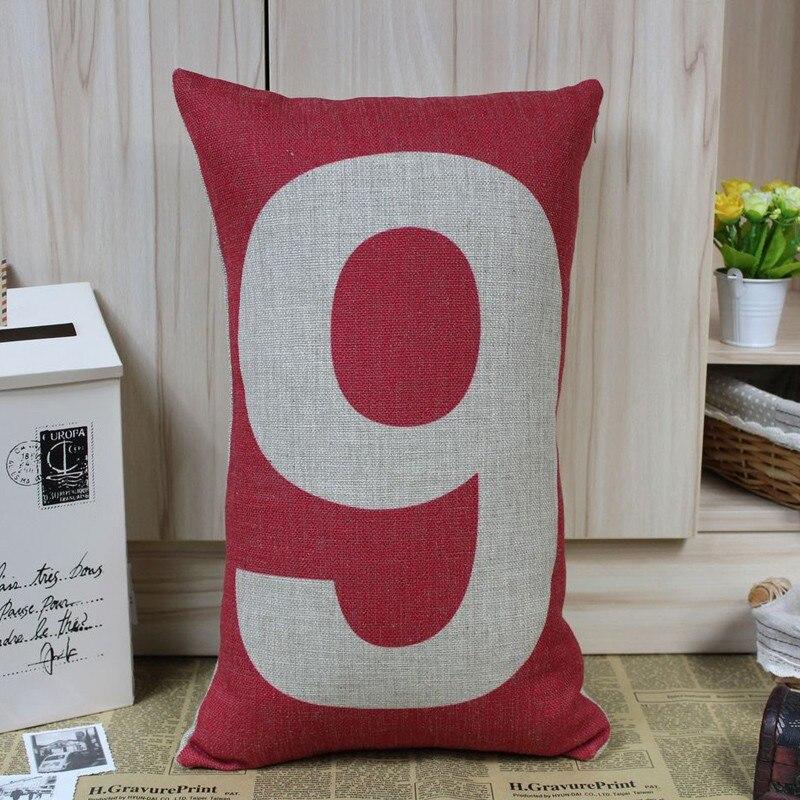 LINKWELL розничная,, 1 шт., 50x30 см, счастливый номер, ноль до девять наволочек, цифра, символ радуги, красочные
