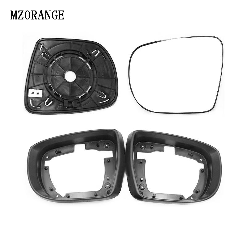 MZORANGE Car Accessories Car Exterior Rear View Mirror Frame Cover For Hyundai Ix35 2009-2015 For Tucson Mirror Glass