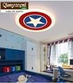 Qiseyuncai 2018 Новый Капитан Америка  потолочный светильник для детской комнаты  теплая звезда  круглая акриловая лампа для спальни для мальчиков...