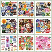 Kid Toys Cartoon Animals Sticker Anime Girl Sticker Pack Laptop Luggage Graffiti Waterproof Skateboard Stickers Toy For Children(China)