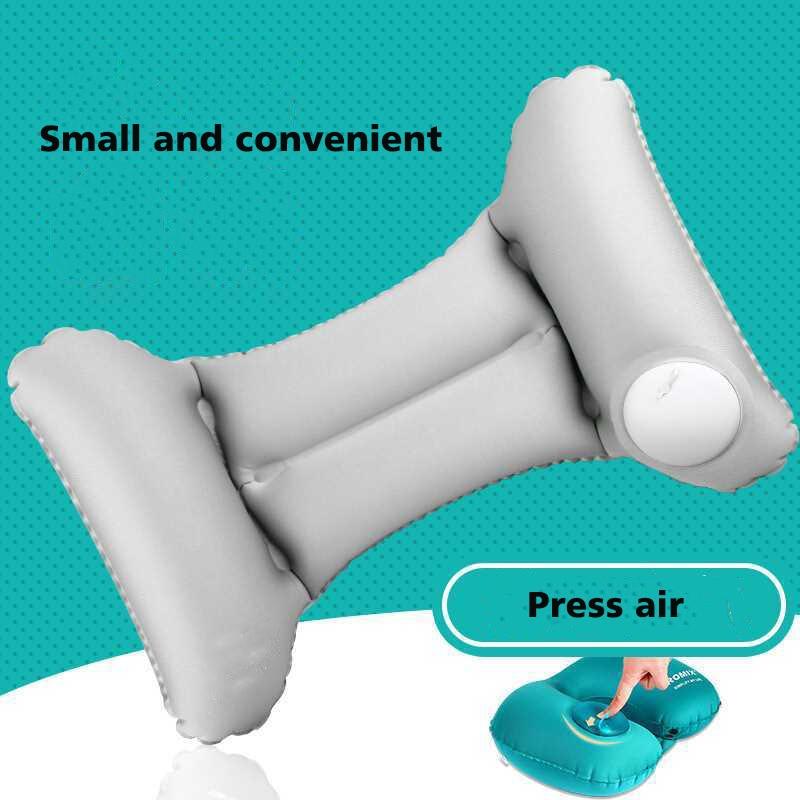 Automatic Press Air Travel Cushion Inflatable pillow Nursing Lumbar Train Aircraft Waist Rest Headrest Cushion Portable Pillow