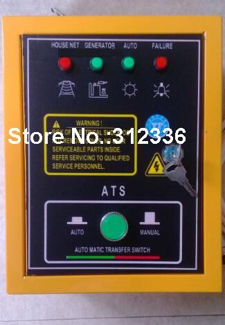 все цены на Fast Shipping 6 pins 5kW ATS Three Phase 220V 380V Gasoline Generator controller Automatic starting Auto Start Stop Function онлайн