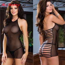 2015 Hot Sale Sexy Teddies Lace Lingerie Fishnet Short Dress Women font b Sex b font