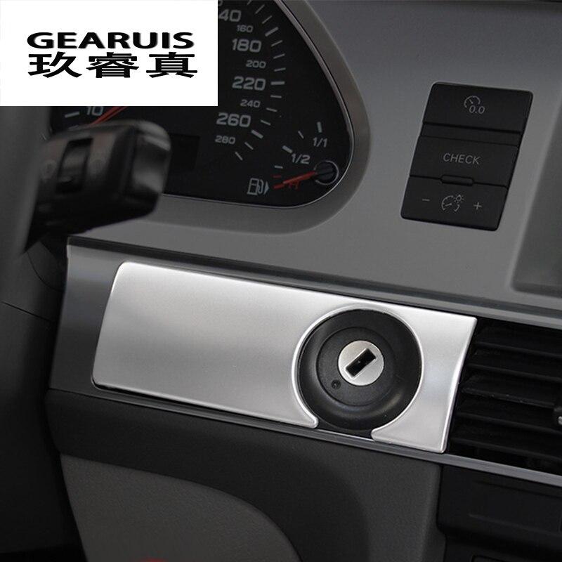 Estilo do carro Dashboard decoração Buraco Da Fechadura Quadro Saídas de Ar Do Painel cobre Adesivos Guarnição Para Audi A6 C5 C6 interior Auto Acessórios