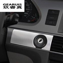 Marco de decoración para el salpicadero del estilo del coche marco de la cerradura del Panel de ventilación cubre las pegatinas del ajuste para Audi A6 C5 C6 accesorios interiores del automóvil